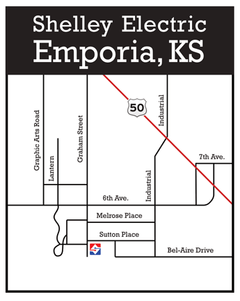 Shelley Electric Emporia Map