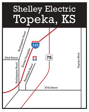 Shelley Electric Topeka Map