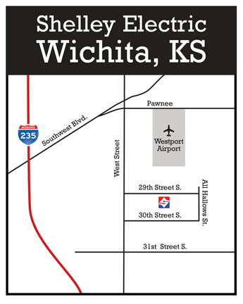 Shelley Electric Wichita Map